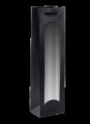 1er-Tragetasche schwarz mit Sichtfenster