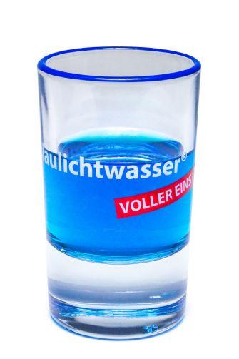 """Blaulichtwasser®  Shot-Glas """"VOLLER EINSATZ!"""""""