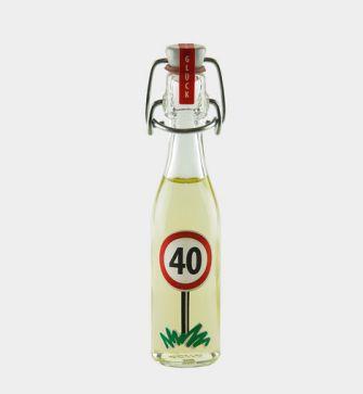 "Viel Glück! - Motiv: ""40"""