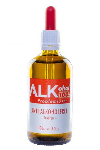 "ALKohol - 100ml Problemlöser Anwendung: ""ANTI-ALKOHOLFREI"""