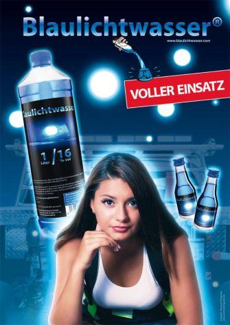 """Blaulichtwasser® - Plakat: """"Lady-Blaulicht"""""""