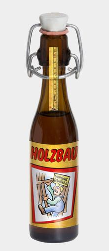 """VORSICHT BAUSTELLE - Motiv: """"HOLZBAU"""""""
