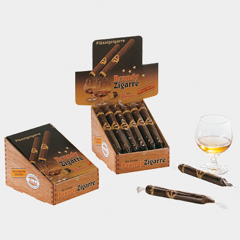 Brandy-Zigarre, Display mit 12 Stück